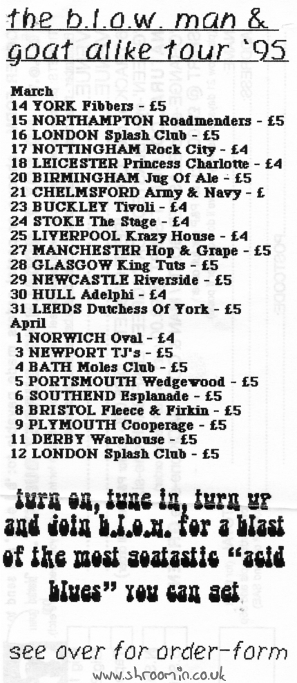 1995 Gig List – March/April