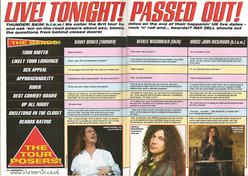 Kerrang! 542's 'Live Tonight! Passed Out!' Q+A with Bruce from b.l.o.w.