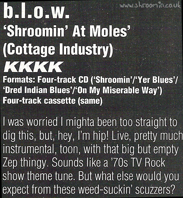 Kerrang! Shroomin At Moles Review Date Unknown