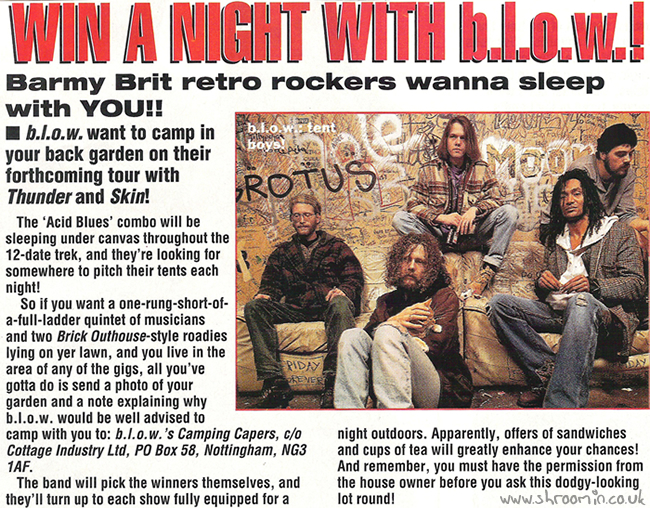 Kerrang! Win A Night With b.l.ow.