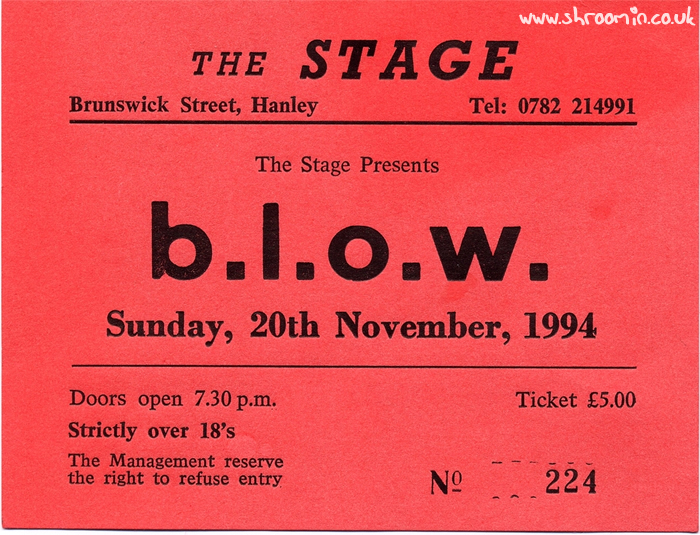 20th November 1994 – The Stage, Hanley